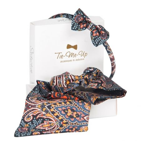 GIFT: Scarf drive and headband with bow Paisley Granada black