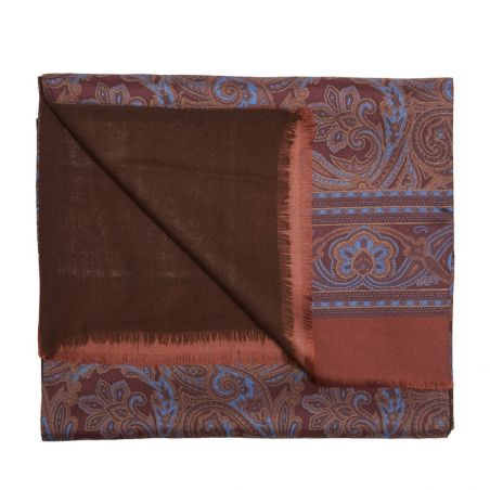 Men Scarf Laura Biagiotti smart paisley bordo