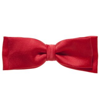 Light red double bow clip