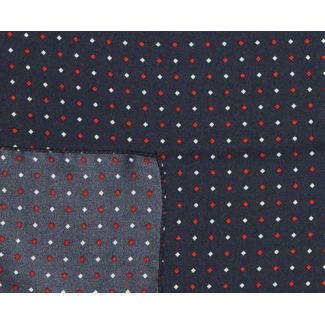 Men Scarf Laura Biagiotti navy with white and red diamonds