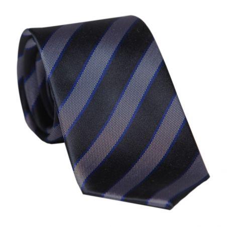 Cravata Laura Biagiotti navy cu dungi late small pattern