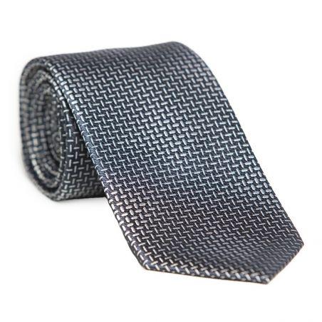 Cravata matase Laura Biagiotti negru cu gri argintiu