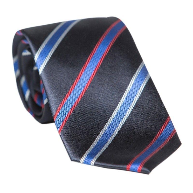 Cravata Laura Biagiotti navy cu dungi albastre