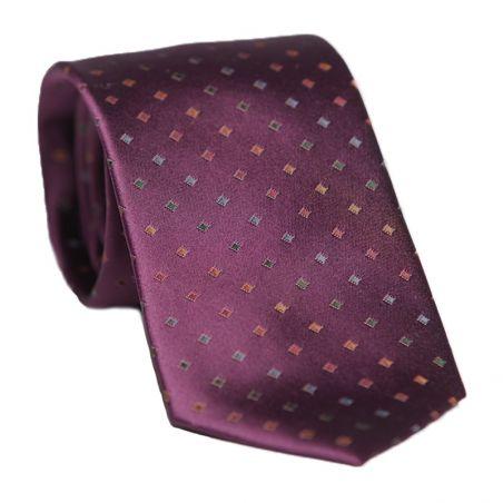Laura Biagiotti silk tie bordo micro pattern
