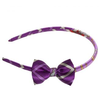 London Rush bow headband on purple
