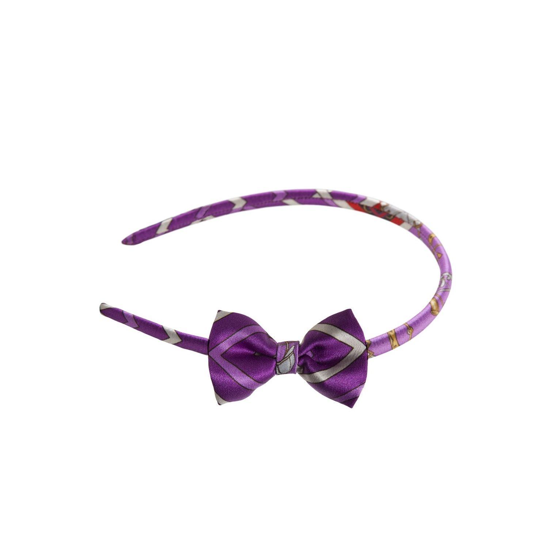 Headband cu fundiţă London Rush fond purple