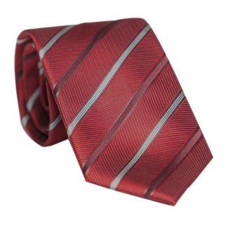 Cravata Laura Biagiotti bordo cu dungi argintii