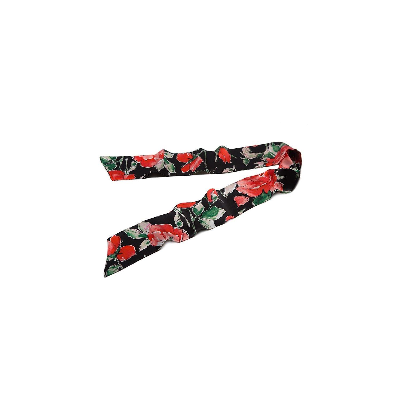 Eşarfă lunga mătase naturală 99 Red Roses