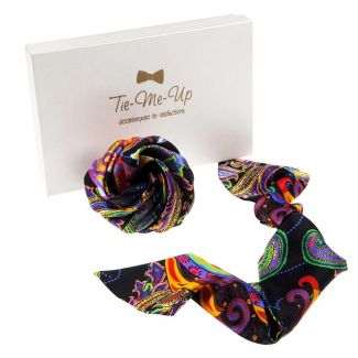 9 Lives hair scarf & hair rose