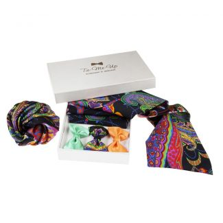 9 Lives scarf, hair rose & bow clip