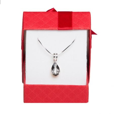 Silver pendant red Swarovski