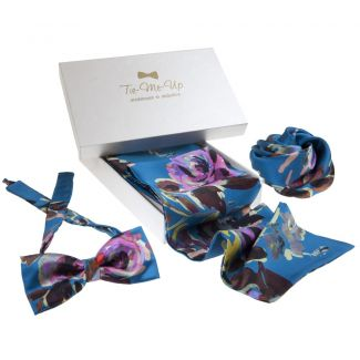 Opium bow tie, scarf & hair rose