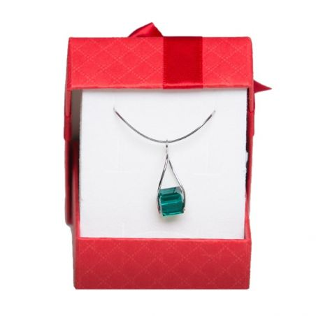 Silver pendant Swarovski Emerald