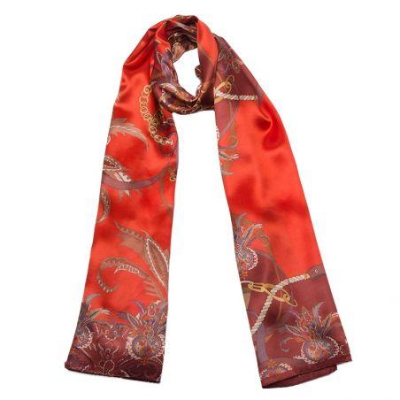 Silk Shawl Mila Schon Tropical Red