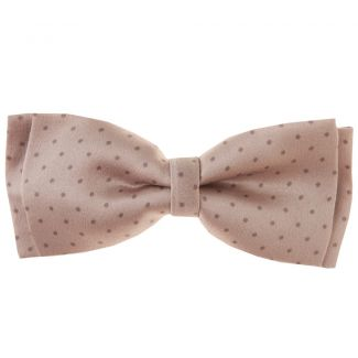 Dotted big bow on beige