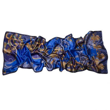 Silk Shawl Mila Schon Tropical Blue