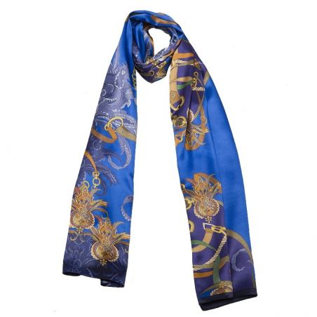 Silk Shawl Mila Schon Tropical Blue