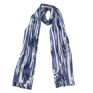 Silk Shawl Laura Biagiotti Cool blu