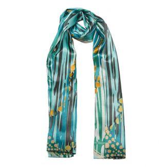 Silk Shawl Laura Biagiotti cool turquoise