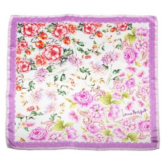 Silk Scarf Laura Biagiotti delicate flowers pink