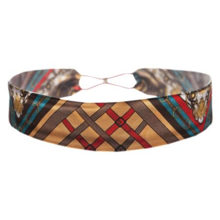 London Rush elastic headband on red