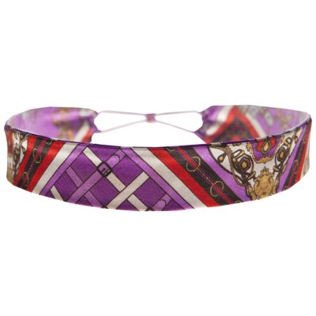 London Rush elastic headband on purple