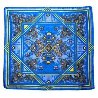 Eşarfă matase naturala Mila Schon US Hot Style blue