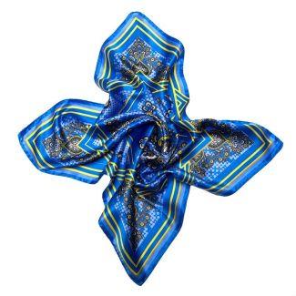 Mila Schon blue straps Squared Scarf