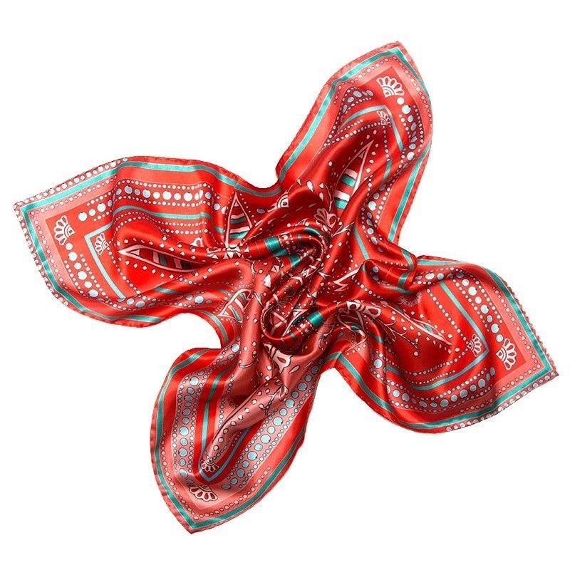 Eşarfă matase naturala Mila Schon US Hot Style red