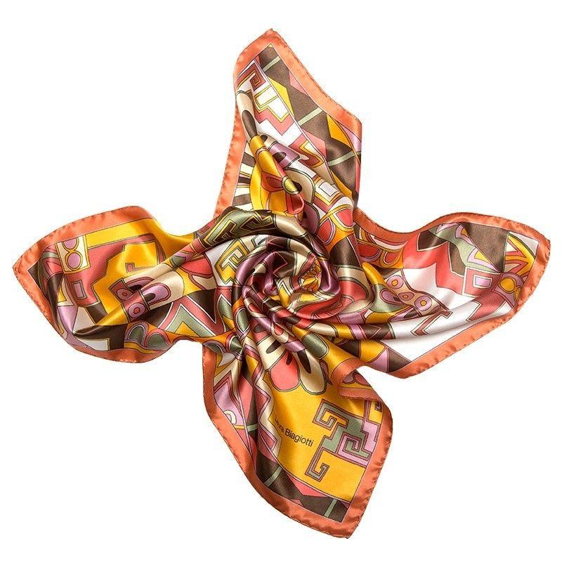 Laura Biagiotti silk scarf S Kisses from Capri apricot
