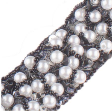 Accesoriu de păr aplicaţie perle