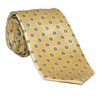 Cravata matase L. Biagiotti galben-lamaie Celebration