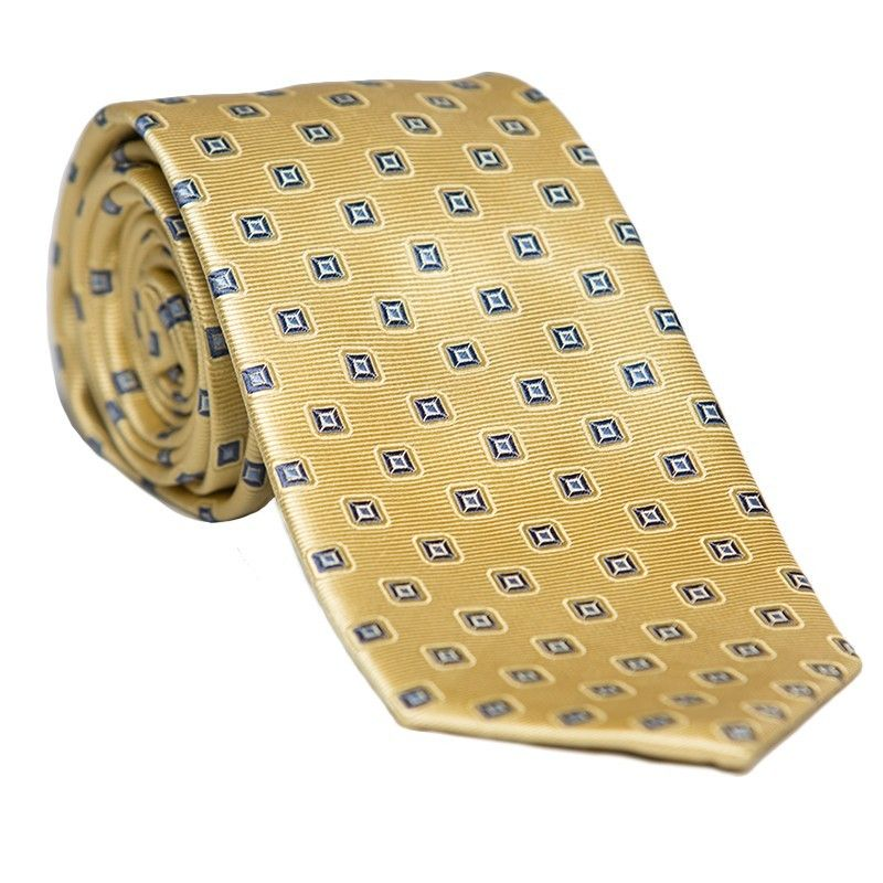 L. silk tie lemon yellow Biagiotti
