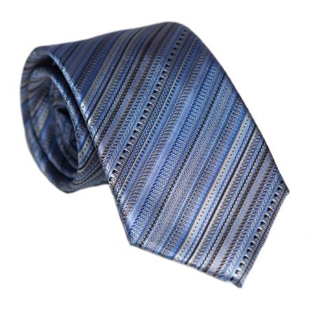 L. Biagiotti silk tie blue stripes Executive