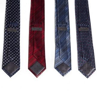 Cravata matase  L. Biagiotti dungi blu Executive