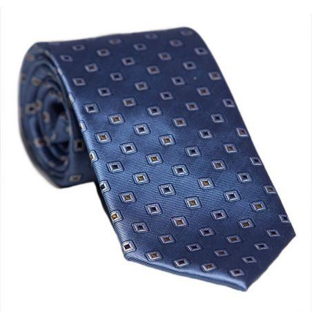 L. Biagiotti silk tie blue mustard