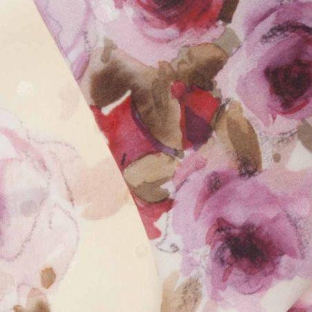 Eşarfă trandafiri pe fond crem