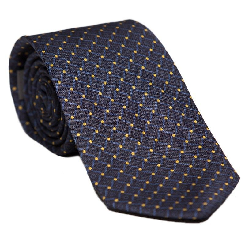 L. Biagiotti round tie navy pattern Celebration