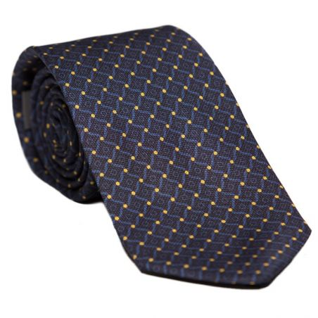 L. silk tie blue stained glass Biagiotti