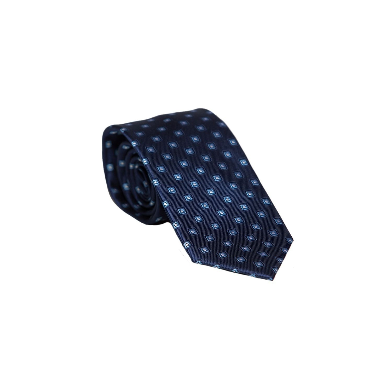 Cravata matase L. Biagiotti navy vitraliu