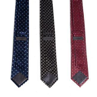 Cravata matase L. Biagiotti cu patrate mici