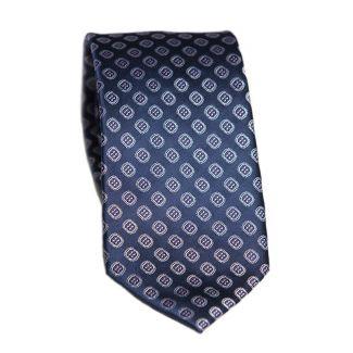 CADOU:Cravata matase L Biagiotti cu model pe navy Celebration