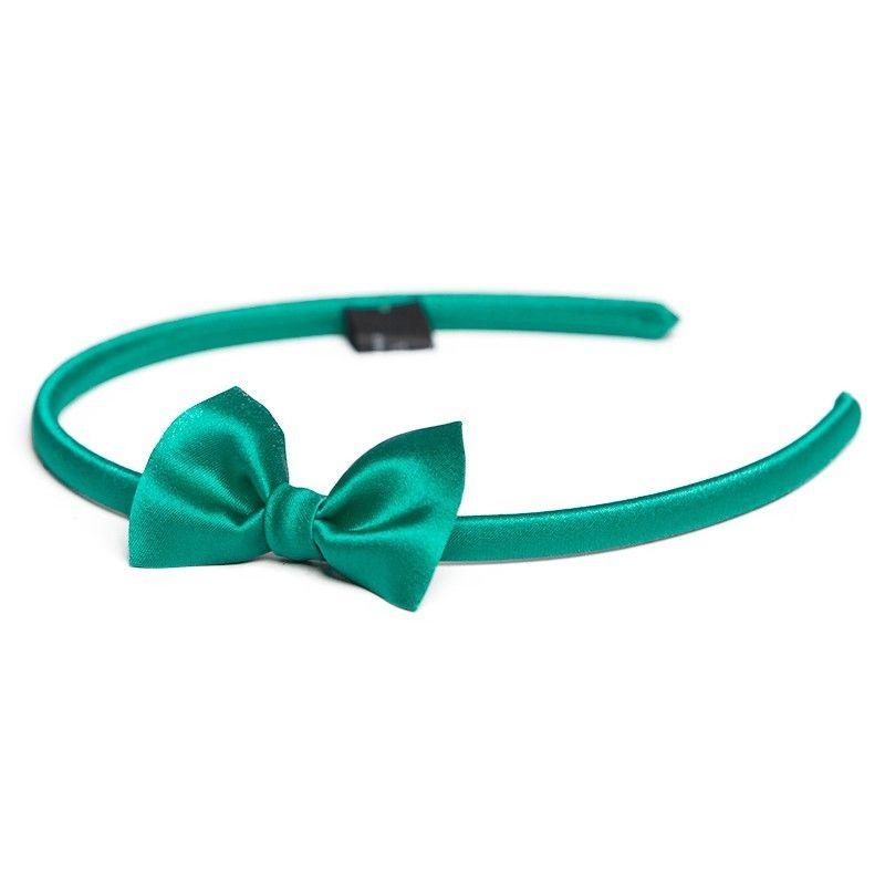 Headband cu fundita verde