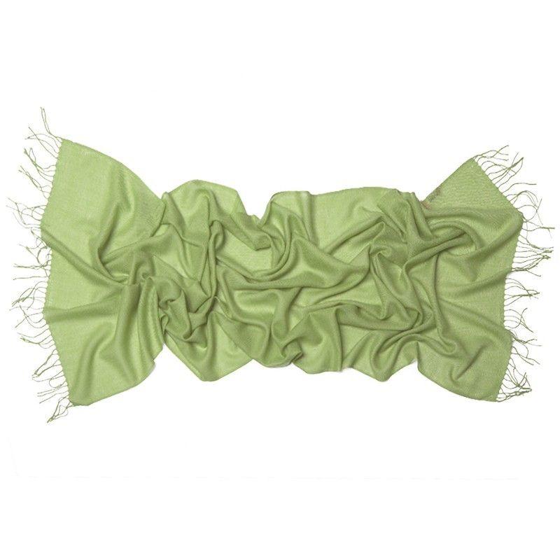Esarfa lana Mila Schon greenery