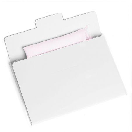 Esarfa lana Mila Schon white lavander plain