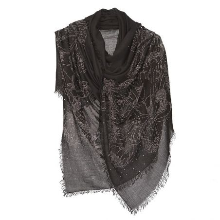 Black butterfly strass shawl