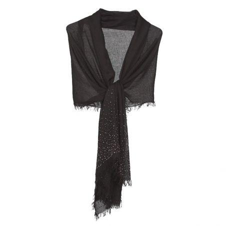 Black silver applications shawl