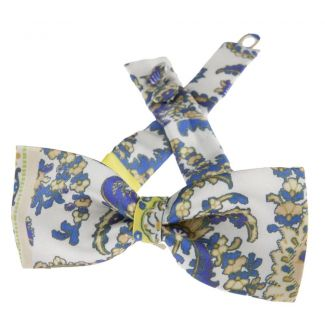 Etro printed silk yellow bowtie