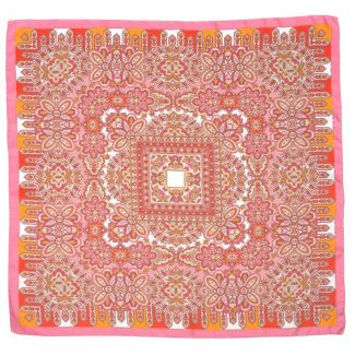 Esarfa matase twill Marina D'Este Alhambra rosu