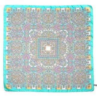 Esarfa matase twill Marina D'Este Alhambra turcoise